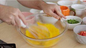 passo 01 omelete de forno