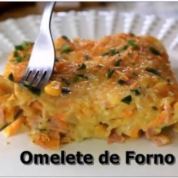 receita de omelete de forno fit low carb