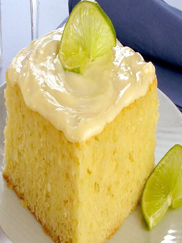 Receita de bolo de limão verde